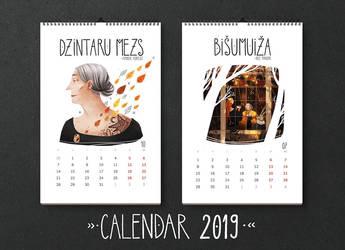 Calendar 2019 by Dferous