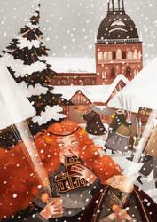 Winter in Riga by Dferous