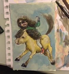 Ride it like you stole it! by Regitze
