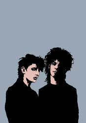 Rowland S. Howard and Nick Cave by Regitze