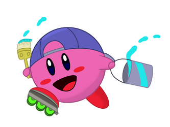 Kirby Collaboration: Paint Kirby by starhavenstudios