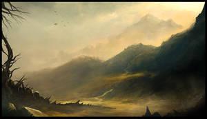 Mountain Sunset by Titaniasky