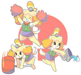 Isabelle move set by OnigiriPunch