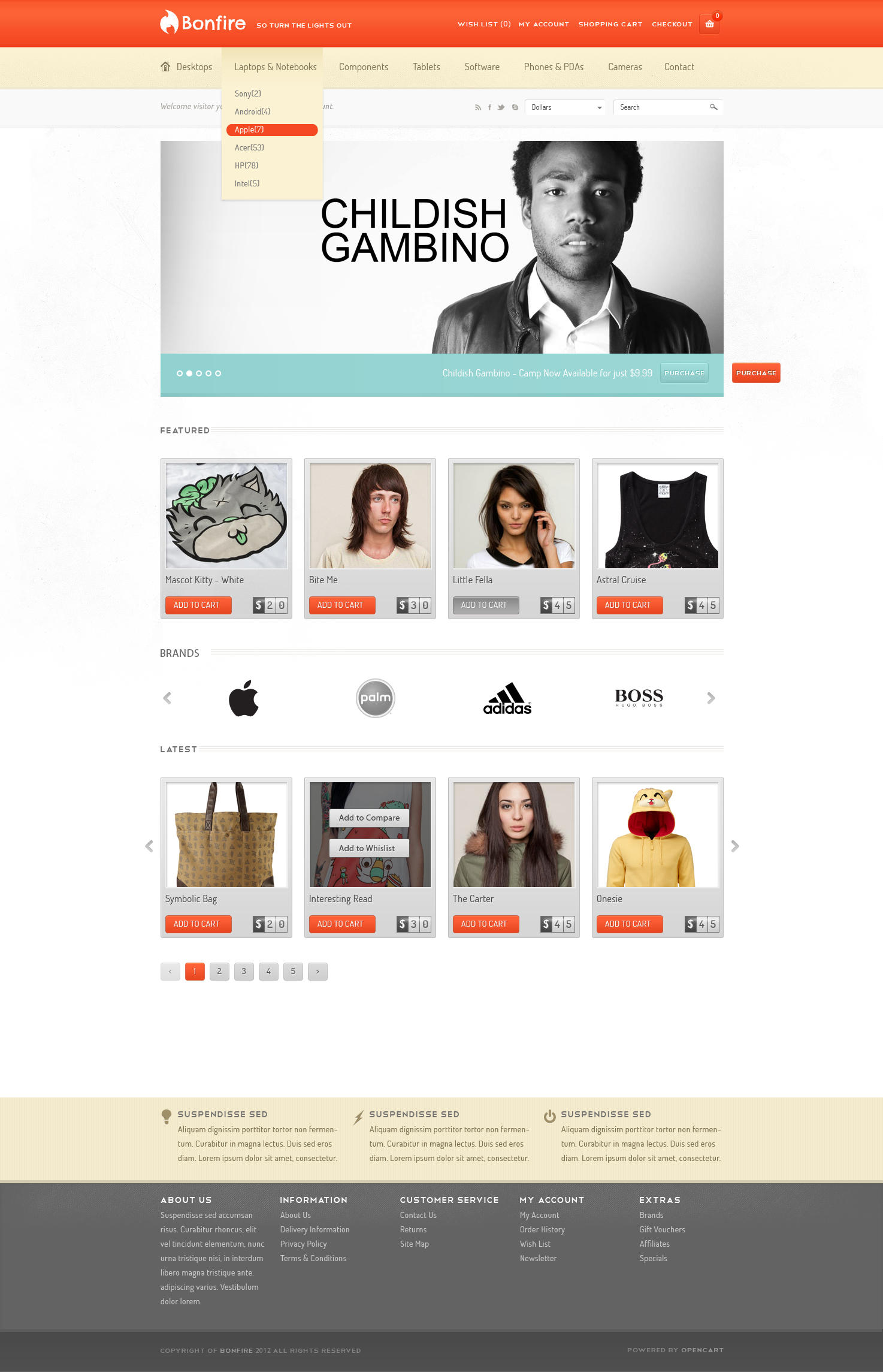 Freebies Bonfire eCommerce Design by sunilbjoshi