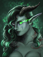 World of Warcraft Commission: Lyanelle by Lady-Elizriel