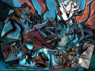 High Moon Bat creatures by Steve-Ellis