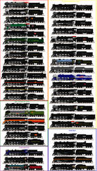 North American 4-8-4s by Andrewk4