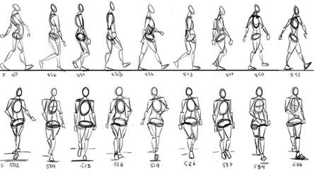 Walking Cycle thumbnails by anaisgomez