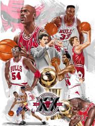 1991 Chicago Bulls by tsantiago