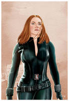 Black Widow Fan Art by Tony Santiago by tsantiago