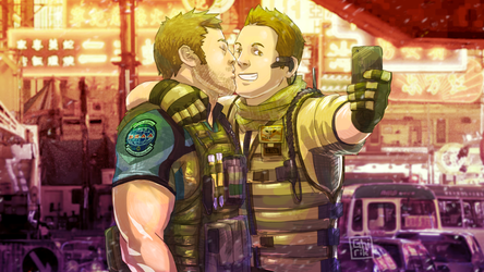 Captain Chris and Puppy Piers! by Ghirik