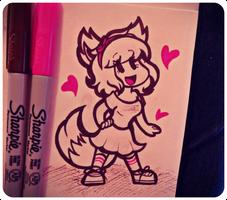 A Smol Fox Appears!/ Birthday Gift by ChristinaDragon