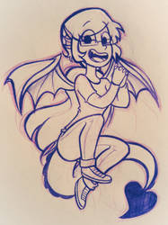 The dragon gal by ChristinaDragon