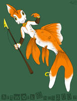 Goldfish warrior COLOUR by raygirl