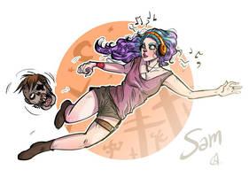 Commission: Sam the zombie killer! by dziwnym
