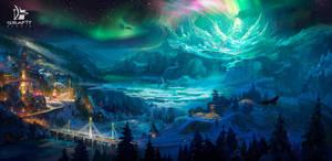Moonlight Valley by Grafit-art