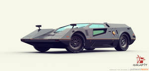 3D retro futuristic race car by Grafit-art