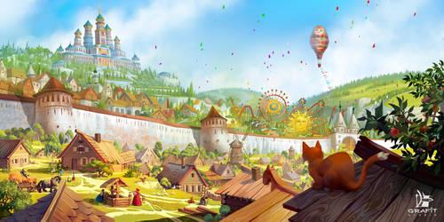 Russian Fairytale City by Grafit-art