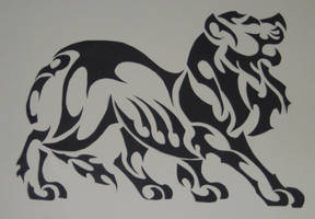 Lion Tribal Tattoo by Canyx