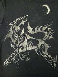 Silver Wolf Tshirt by Canyx