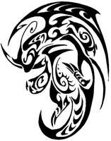Dragonite Tribal Tattoo by Canyx