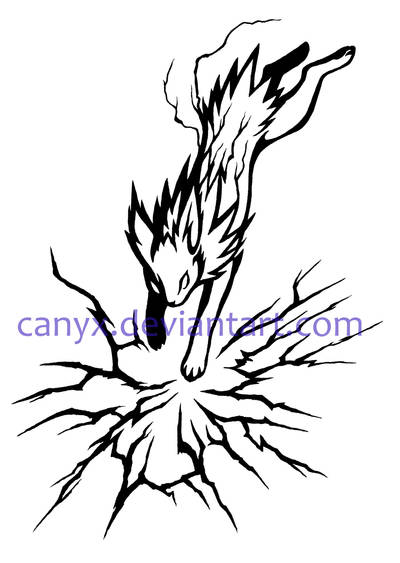 Jolteon attack COMMISSION by Canyx