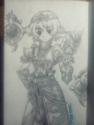 Unison League Priest character (mine of course) by Ukina-chi
