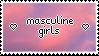 masculine girls stamp! by Lepedi