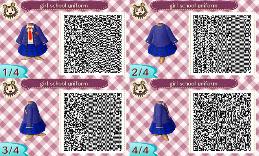 New Leaf School Girl Uniform By TheRealSneakers On DeviantArt Magnificent Animal Crossing New Leaf Sewing Machine Qr Codes