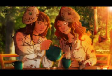 Tea Break For The Horror Sisters by Fairloke