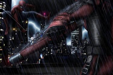 Daredevil v Spider-Man by ricktimusprime0825