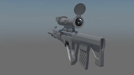 Futuristic Rifle (WIP) by Makivic