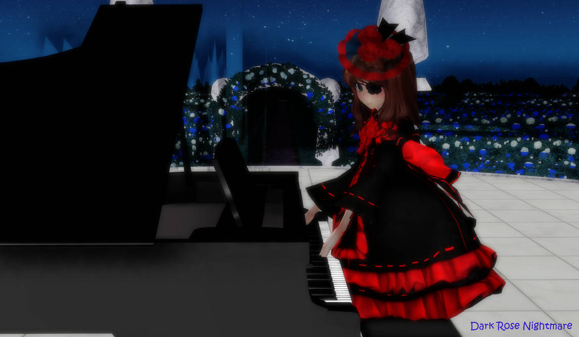 Mmdxoc Playing Piano At The Night By Dark Rose Nightmare On