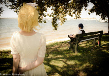 Vocaloid - Kaito/Kagamine Rin by Antarnis