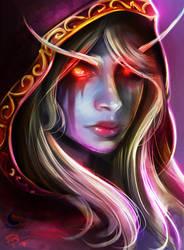 The Dark Lady, Sylvanas by Moonpix-Studios