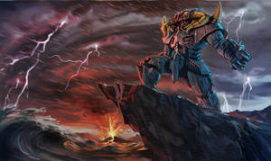 Asterion god of upheaval by GleamingScythe