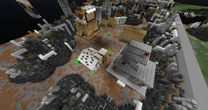 Minecraft Midgar Sector 7 Slums by Killerx20