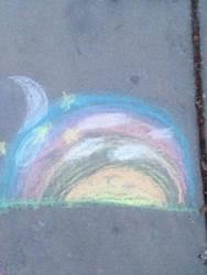 Sunset v.s moon by The2pAmericanHero123