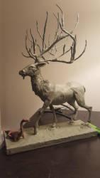 Deer God WIP by cadorath