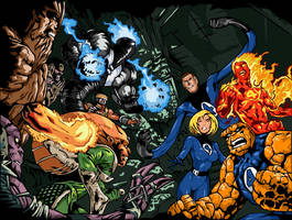 Fantastic Four by Mnollock