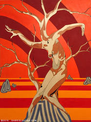Her Fiery Sky by GabrielGuyer