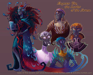 Eyes of the Swarm: Emperor Vra by FlyingCarpets
