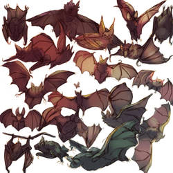 Screamy flying mice by FlyingCarpets