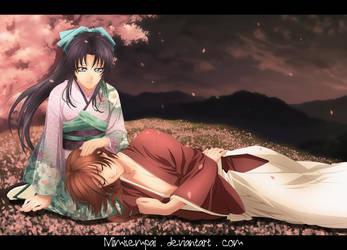 Kaoru Kamiya and Kenshin Himura : Well earned rest by MimiSempai