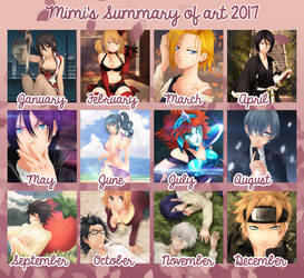 My summary of art 2017-Thank you!! by MimiSempai