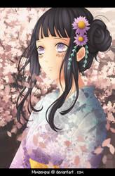 Naruto : Hinata_Thinking of him... by MimiSempai