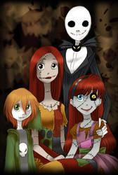 Request - Skellington Family Portrait by ZOE-Productions
