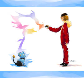 Kenma caught a SHinx (with an ultraball) by TaliC-os