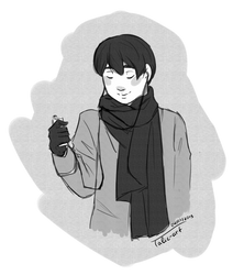 Grayscale Ameer by TaliC-os