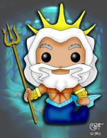 Funko Pop fan art- King Triton by CSF-Designs